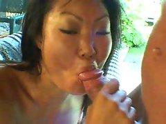 Waking the horny Asian