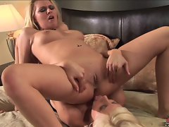 Riley Evan's ass gets reamed by Puma Swede's tongue