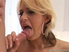 Hottie Anastacia Devine takes a hot shot of cum in her mouth