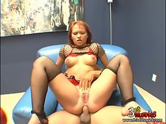 Slutty Katja Kassin bounces her tight butt on a massive dick