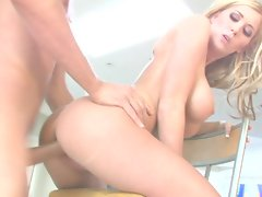Beauty Michelle B receives a hard pumping by a monster dick