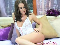 Addison Rose getting turned on in a smoldering two-piece