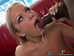 Jessica Moore gets her adorable face drenched in cum