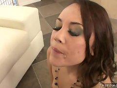 Sexy milf Kristina Rose enjoys a cockramming and cum shower