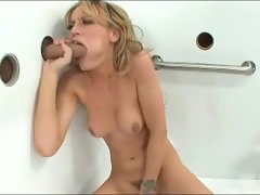 Holly wellin gets herself off while sucking a big cock
