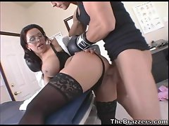 Horny hot Sienna West roughly plowed hard on her twat from behind