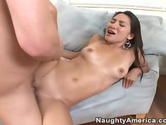 Getting a nice warm round of jizz is just what Roxy Jezel loves