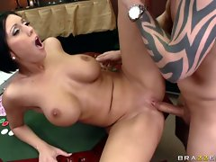Hot busty whore Dylan Ryder gets her hot wet pussy fucked hard