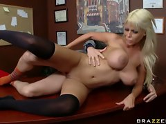 Gorgeous college girl Bridgette B gets fucked deeply in her gash