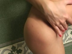 Delicious Mandy Dee licks and sticks her digits up her tight pussy