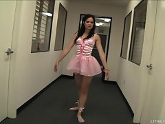 Pretty ballerina Jenna Ross is fuck filled