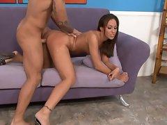 Adrianna Deville gets a gobful of creamy goo