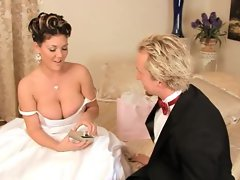 Slut Claire Dames loves how the cock feels on her special day