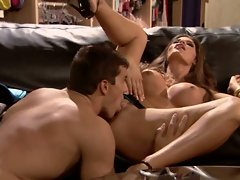 Madelyn Marie captures the contents of this man's balls and cock