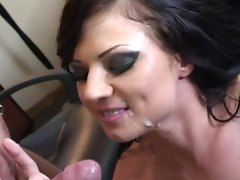 Ava Rose knows the benefits of hot jizz covering her dirty face