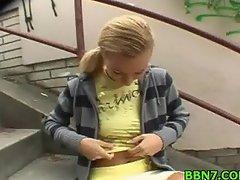 Naughty teen gets fucked sideways