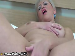 Blonde mature lady loves playing part3