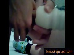 Cute emo in selfshot masturbation clip part4
