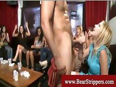 Cfnm party ladies pleasing guys cock