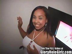 Slutty Latina Blows and Bangs Strange Gloryhole Perverts