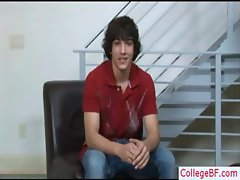 Cute college guy undressing part4