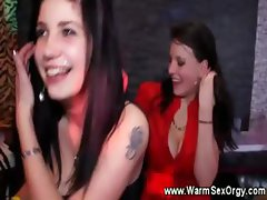 Horny girls at stripclub go crazy