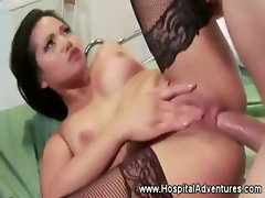 Asian patient loves being fucked by her doctor