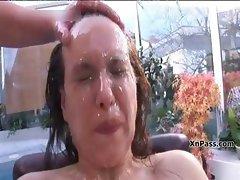 Skanky brunette girl gets abused part6