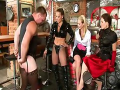 Femdom fetish sluts dress up humiliation