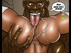 Interracial  Cartoon Sex 11