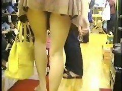 Upskirt at the shop