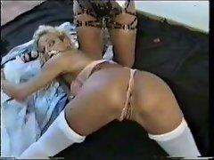 Mistress Rough Fucks Blonde With strapon