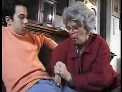 Catches grandson jacking off and helps him out