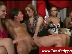 Cfnm blowjob loving strippers at sexy party