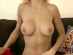 English bimbo makes senior beg