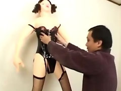 Asian bitch is feeling hot wax
