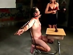 Prodomme is ruling over her submissive