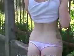 Innocent tourist gets banged and receives cum on her face