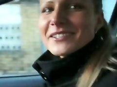 Lovely blonde honey brought and fucked in public in for cash