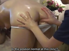 Subtitled Japanese lesbian ass and anal sensual massage