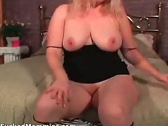 Busty mom gives head and gets hairy snatch cummed