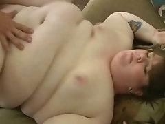 Man satisfying hot chubby