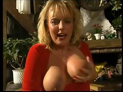mature woman with piercings in pussy masturbates