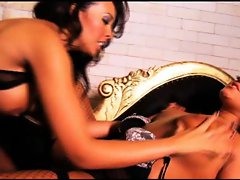 British lesbians get it on in stockings