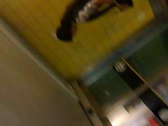 Pink Striped Panties, Upskirt in Escalator 4 (HQ)