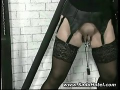 Mature tied and punished