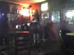 Ex singing in bar