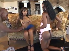 Ebony CreamPie 3Some