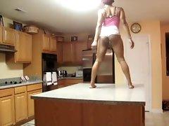 Black ASS Kitchen Booty Shake &amp, Tricks B4 Bed (PG) - Ameman