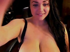 Hot girl with huge tits!